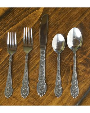 M&F Silverado 20 Piece Silverware Set, Silver, hi-res