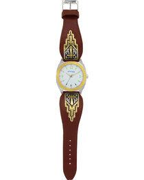 Montana Silversmiths Men's Two Tone Cross Dress Watch, , hi-res