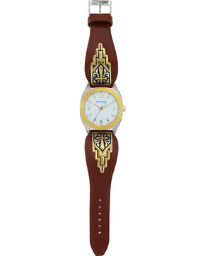 Montana Silversmiths Men's Two Tone Cross Dress Watch, Silver, hi-res