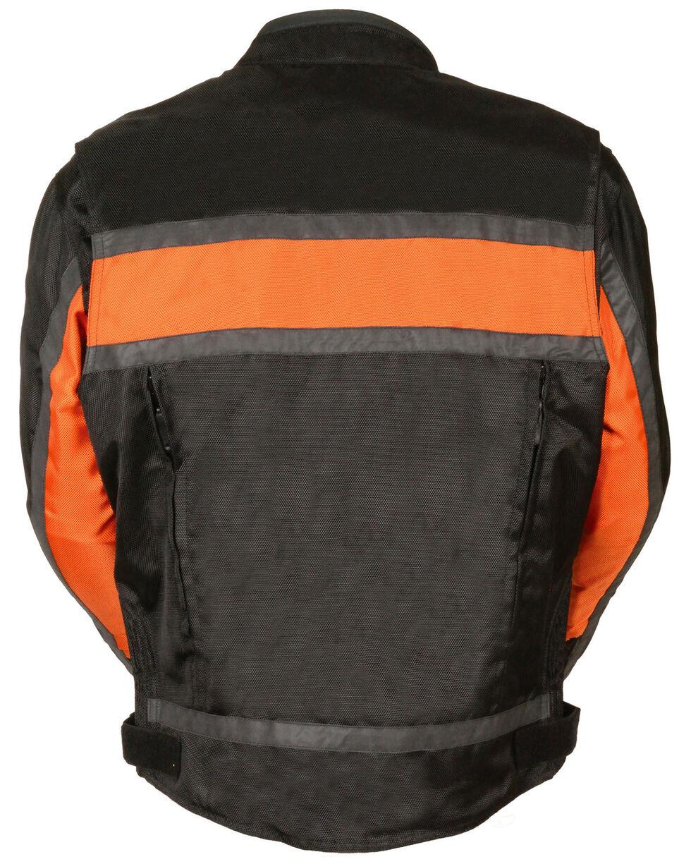 Milwaukee Leather Men's Reflective Stripe Racer Jacket - 3X, , hi-res