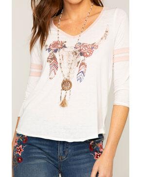 Shyanne Women's Dream Catcher Beaded Necklace, Sand, hi-res