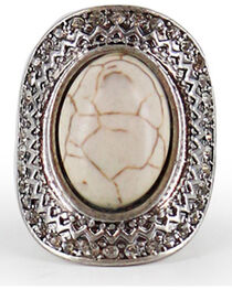 Shyanne® Women's Large Gemstone Stretch Ring, , hi-res