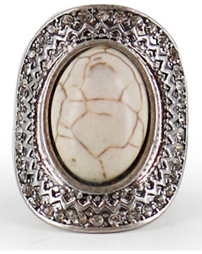 Shyanne® Women's Large Gemstone Stretch Ring, Silver, hi-res