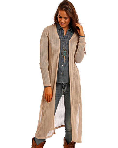Panhandle Women's Tan Maxi Cardigan | Boot Barn
