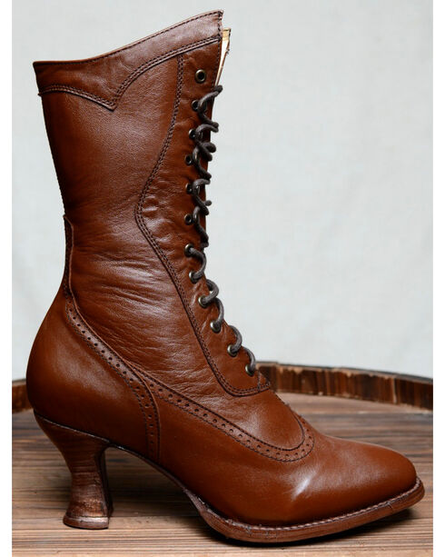 Oak Tree Farms Jasmine Cognac Boots - Medium Toe, Cognac, hi-res