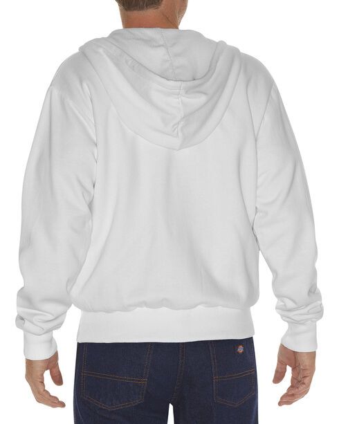 Dickie's Men's Thermal Lined Fleece Hoodie, White, hi-res