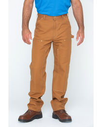 Carhartt Double Duck Dungaree Fit Khaki Work Jeans, , hi-res