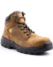"""Terra Men's Grafton 6"""" Work Boot - Composite Toe, Brown, hi-res"""