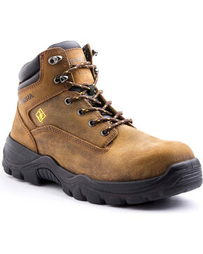 "Terra Men's Grafton 6"" Work Boot - Composite Toe, Brown, hi-res"