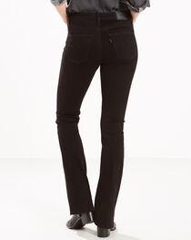 Levi's Women's Black Slimming Mid-Rise Jeans - Boot Cut , , hi-res