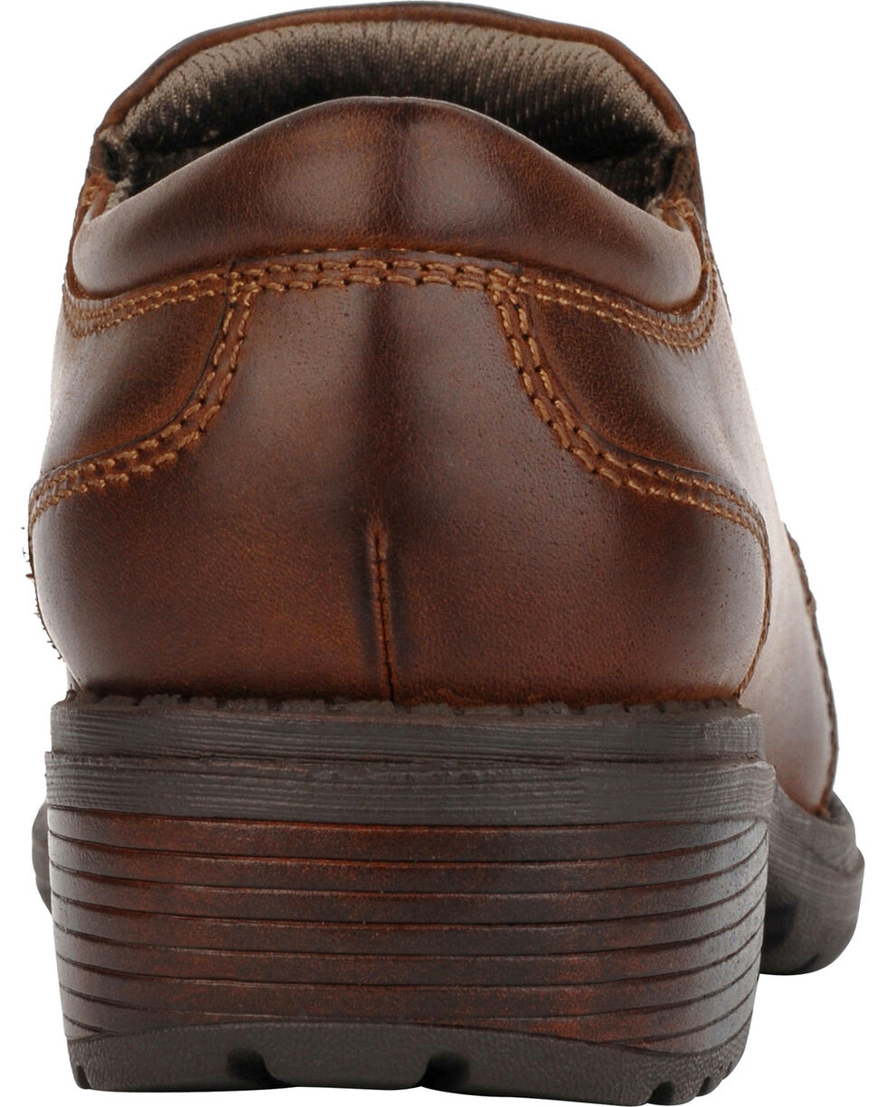 Eastland Women's Brown Double Down Slip-Ons , Brown, hi-res