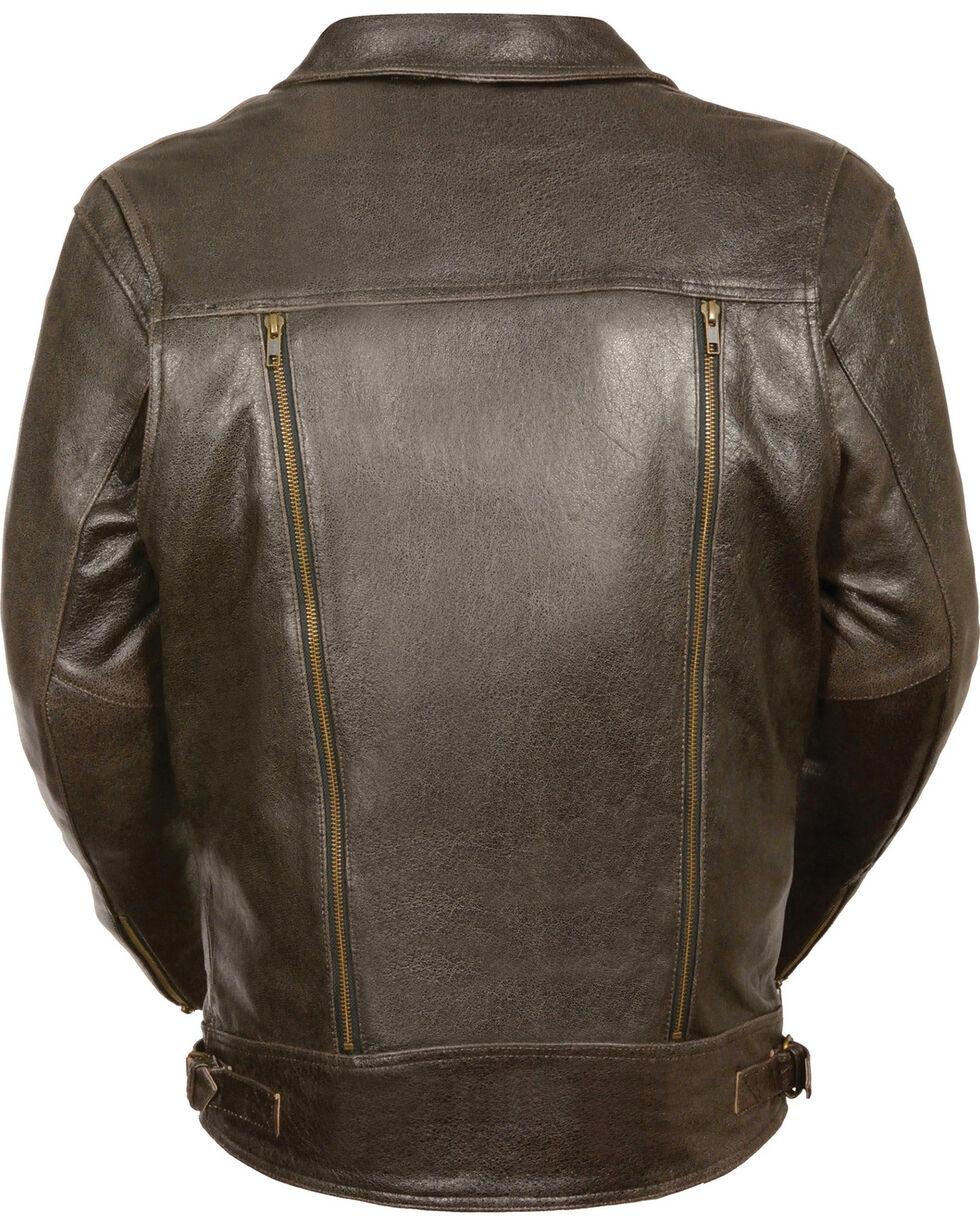 Milwaukee Leather Men's Brown Utility Pocket MC Jacket - Big 3X , Brown, hi-res