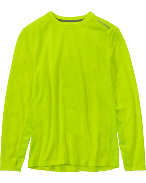 Timberland Men's Wicking Good Long-Sleeve T-Shirt , Yellow, hi-res