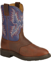 Ariat Sierra Saddle Vamp Work Boots - Soft Toe, , hi-res