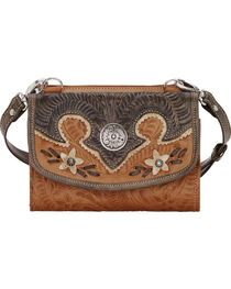American West Women's Desert Wildflower Small Crossbody Bag/Wallet, , hi-res