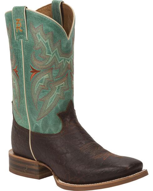 Tony Lama Men's Jasper 3R Stockman Boots, Chocolate, hi-res