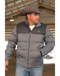 Cinch Men's Grey Lightweight Puffer Jacket , , hi-res