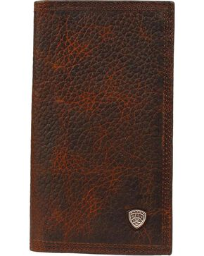 Ariat Men's Rodeo Shield Wallet, Brown, hi-res