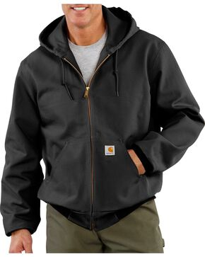 Carhartt Men's Duck Active Thermal Lined Jacket, Black, hi-res