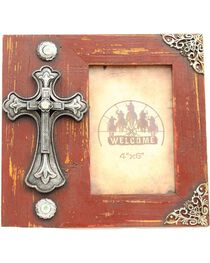 "Western Moments Fancy Cross Wooden Photo Frame - 4"" x 6"", , hi-res"