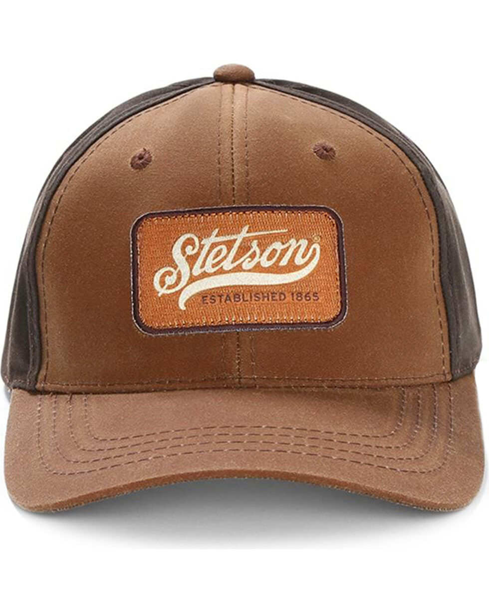 Stetson Men's Two-Tone Oil Cloth Baseball Cap , , hi-res