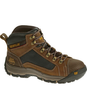 CAT Men's Convex Mid Work Boots, Light Brown, hi-res