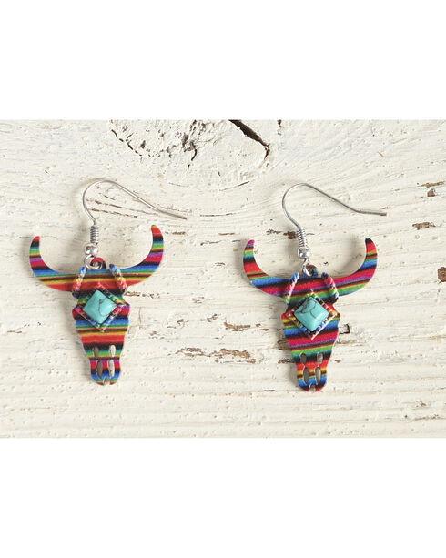 Shyanne Women's Fiesta Longhorn Earrings, Multi, hi-res