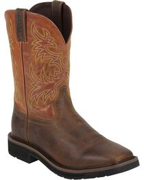 "Justin Men's Rugged 11"" Western Work Boots, , hi-res"