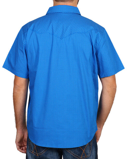 Cody James® Men's Printed Western Short Sleeve Shirt, Blue, hi-res