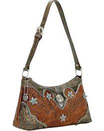 American West Women's Desert Wildflower Shoulder Bag, , hi-res