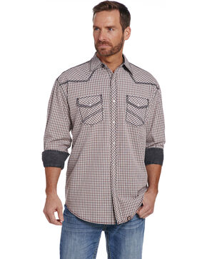 Cowboy Up Men's Two Pocket Snap Shirt , Red, hi-res