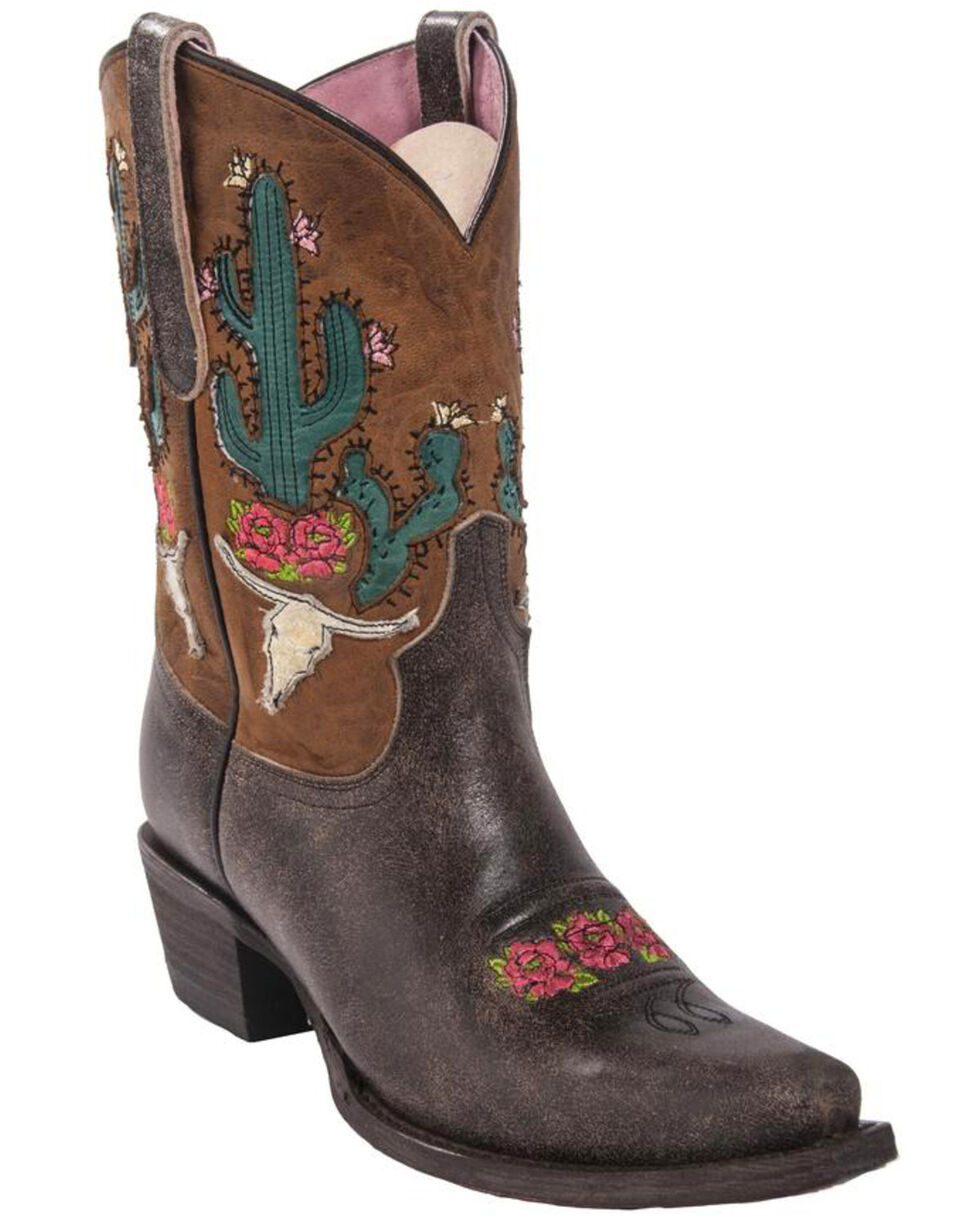 Lane Junk Gypsy Women's Bramble Rose Western Boots, Brown, hi-res