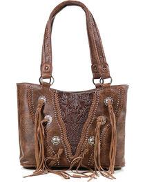 Trinity Ranch Women's Fringe Concealed Carry Shoulder Bag, , hi-res