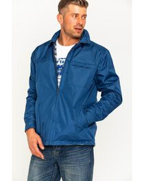 China Leather Men's Navy Reversible Plaid Jacket , , hi-res