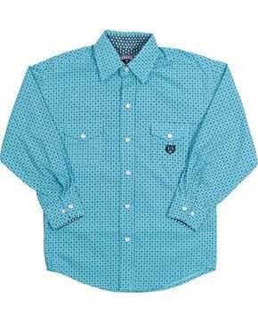 Panhandle Boy's Long Sleeve Western Shirt, Blue, hi-res