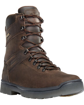 "Danner Men's Brown Ironsoft 8"" Boots - Non-Metallic Toe , Brown, hi-res"