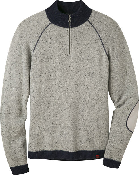 Mountain Khakis Men's Lunar Grey Fleck Quarter Zip Sweater  , , hi-res