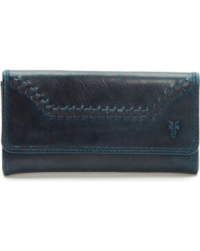 Frye Women's Melissa Whip-Stitched Wallet , Navy, hi-res
