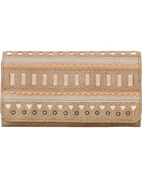 Bandana by American West Women's El Dorado Flap Wallet, Beige/khaki, hi-res