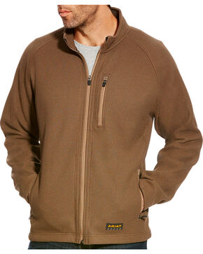 Ariat Men's Brown Rebar Duratek Fleece Jacket -  Big, Olive, hi-res