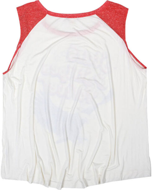 Eyeshadow Women's Plus Size Stars & Stripes Forever Graphic Tank, Off White, hi-res