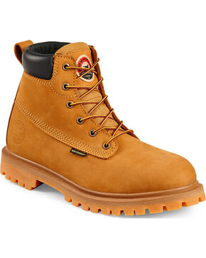 Red Wing Irish Setter Hopkins Insulated Work Boots -  Soft Round Toe , Wheat, hi-res