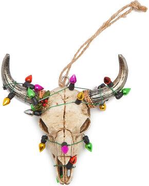 BB Ranch Light Wrapped Cow Skull Ornament , No Color, hi-res