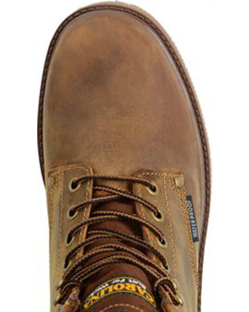 "Carolina Men's 6"" Smooth Sole WP ST Work Boots, Brown, hi-res"