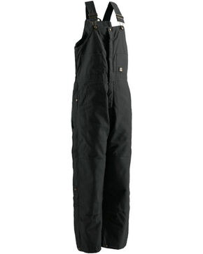 Berne Men's Black Deluxe Insulated Bib Overalls , Black, hi-res