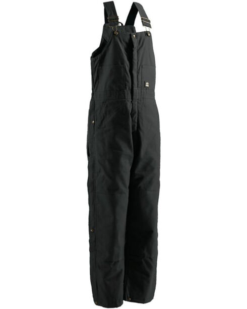Berne Men's Black Deluxe Insulated Bib Overalls , , hi-res