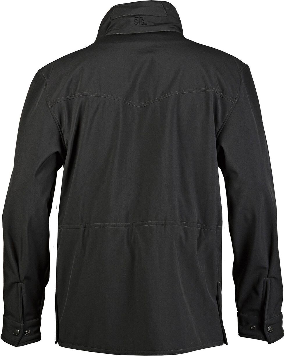 STS Ranchwear Women's Brazos Softshell Black Barn Jacket - Plus - 2XL, Black, hi-res