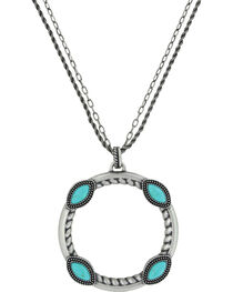 Montana Silversmiths Women's Marquise Circular Attitude Necklace, , hi-res