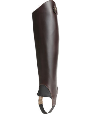 Ariat Unisex Close Contour Half Chaps, Chocolate, hi-res