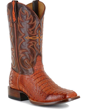 Cody James® Men's Embroidered Caiman Exotic Boots , Brown, hi-res